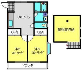 センターハイツ2階Fの間取り画像