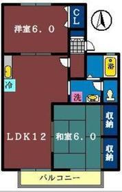 グランカーサ2階Fの間取り画像
