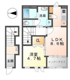 コバルトアワー2階Fの間取り画像