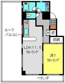 ベルナスV5階Fの間取り画像