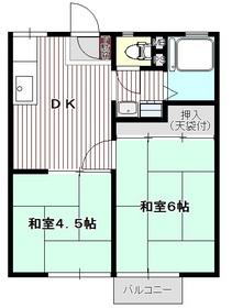 メゾン美原1階Fの間取り画像