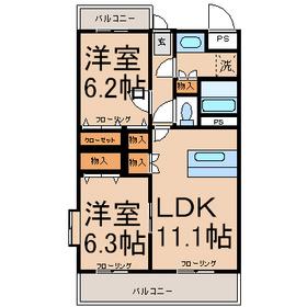中神駅 徒歩23分3階Fの間取り画像
