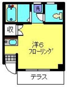 コーポヤマキ1階Fの間取り画像