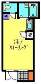 テラスヒダニ1階Fの間取り画像