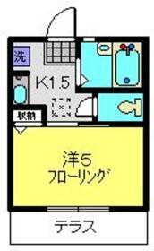 ヒルズ二俣川2階Fの間取り画像