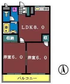 カーサ・ナビオプェンテ2階Fの間取り画像
