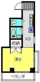 新丸子駅 徒歩7分3階Fの間取り画像
