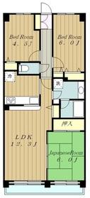 ルネ小田急相模原モアステージ12階Fの間取り画像
