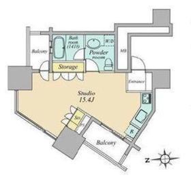 高輪ザ・レジデンス6階Fの間取り画像