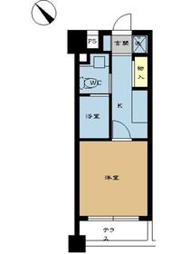 ミディアススカイコート赤坂3階Fの間取り画像