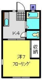 カーサ峰岡1階Fの間取り画像