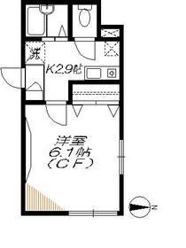 ローズ山王1階Fの間取り画像