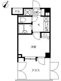 スカイコート新宿弐番館1階Fの間取り画像