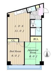 ライラックプラザ3階Fの間取り画像