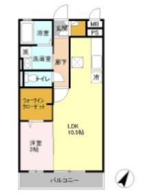 コート権太坂1階Fの間取り画像