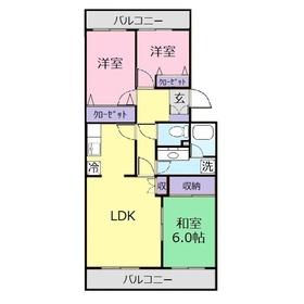 シャルマン・ルミエール2階Fの間取り画像