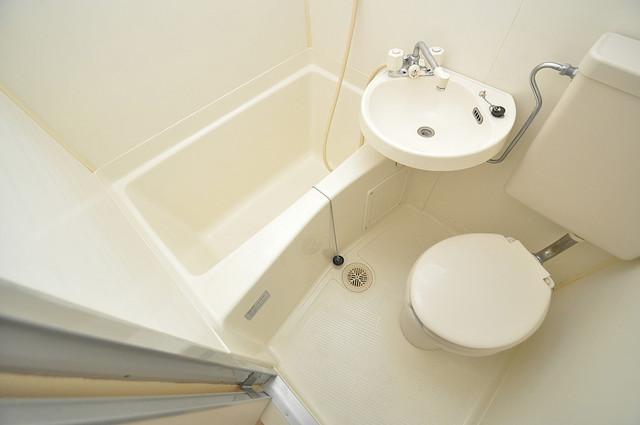 八千代ハイツ お風呂・トイレが一緒なのでお部屋が広く使えますね。