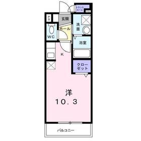 アーバンスクエア2階Fの間取り画像