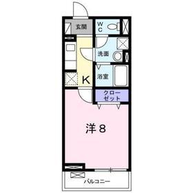 八王子駅 徒歩11分2階Fの間取り画像