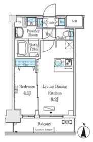 ディームス東陽町Ⅱ5階Fの間取り画像