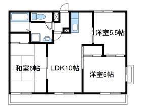 ファミーユ関野1階Fの間取り画像
