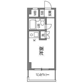 ライオンズマンション喜多見第23階Fの間取り画像