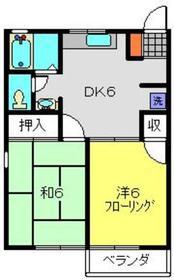 サンコーポ麻樹2階Fの間取り画像