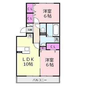 アヴァンセ2階Fの間取り画像