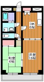 RSKビル1階Fの間取り画像