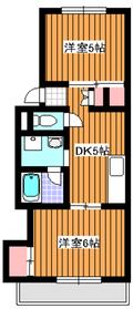 増美ハイツ2階Fの間取り画像