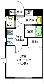 メゾンクリスタル壱番館1階Fの間取り画像