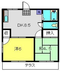 綱島駅 徒歩15分1階Fの間取り画像