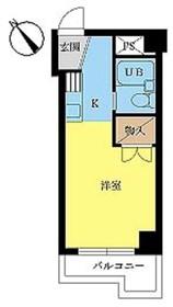 スカイコート川崎73階Fの間取り画像