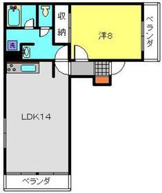 ヴィラMGⅡ3階Fの間取り画像