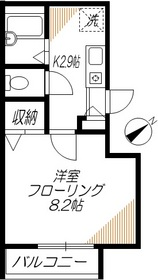 VILLA FIORE1階Fの間取り画像