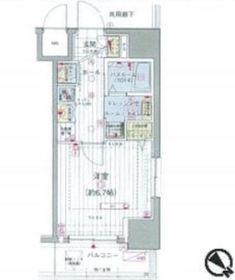 エステムプラザ川崎7階Fの間取り画像