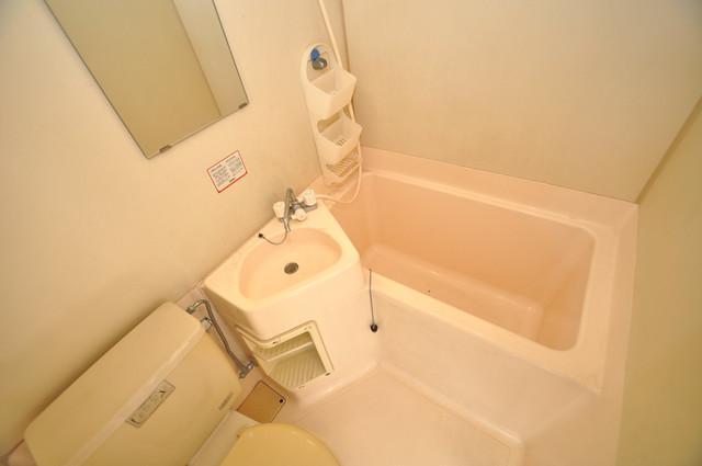 川田マンション ちょうどいいサイズのお風呂です。お掃除も楽にできますよ。