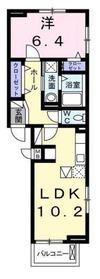 サンルミエール1階Fの間取り画像