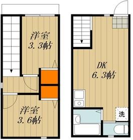 仮称)東浅草2丁目アパート1階Fの間取り画像