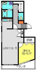 武蔵小杉駅 徒歩23分3階Fの間取り画像