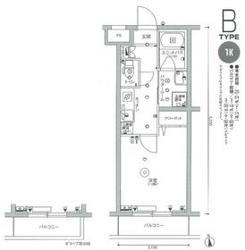 スカイコート多摩川壱番館1階Fの間取り画像
