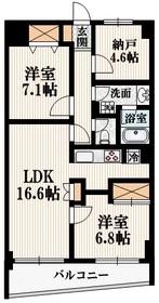 メゾン・カルム3階Fの間取り画像