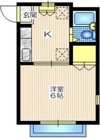 エステート802階Fの間取り画像
