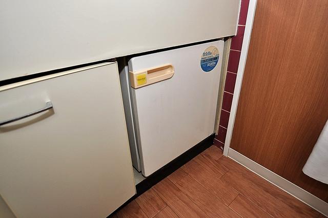 プレステイジ緑橋 コンパクトながらミニ冷蔵庫も完備。機能的です。