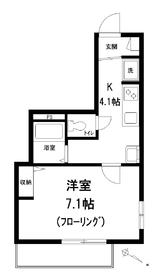 ガーデニア菩提樹2階Fの間取り画像