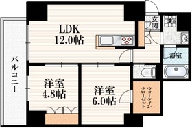 三鷹駅 徒歩5分6階Fの間取り画像