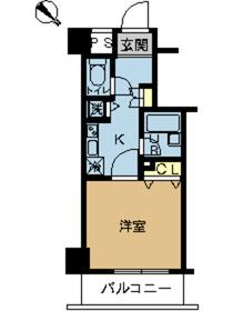 スカイコート富士見台1階Fの間取り画像