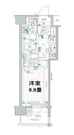デュオステージ横濱天王町5階Fの間取り画像