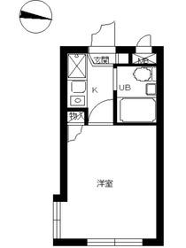 スカイコート武蔵小杉52階Fの間取り画像
