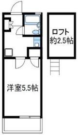 アリスコーポ座間2階Fの間取り画像